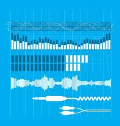 sound elements vector image