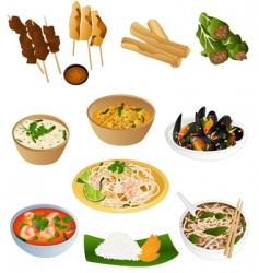 thai prepared food vector image vector image