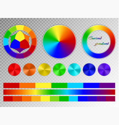color wheel on a transparent background vector image