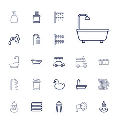 22 shower icons vector