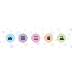 5 towel icons vector