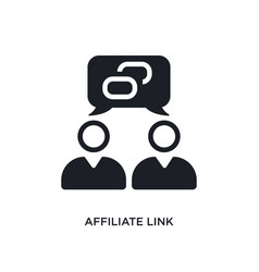 Affiliate link isolated icon simple element from vector
