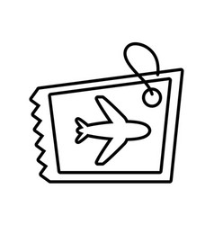 airplane ticket isolated icon vector image