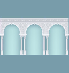 Arcade in oriental style vector