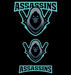Assassin team mascot vector