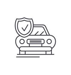 auto insurance line icon concept auto insurance vector image