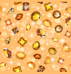 background seamless shiny gems of different cuts vector image