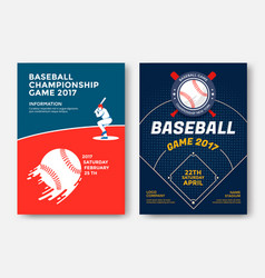 baseball game poster vector image
