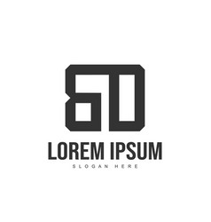 bd letter logo design initial letter logo template vector image