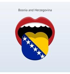 Bosnia and herzegovina language abstract human vector