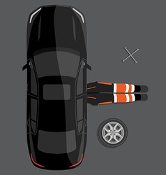 Car repair service concept vector image