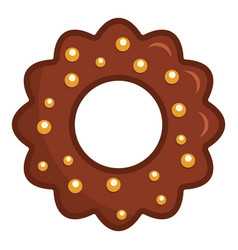 chocolate biscuit icon flat style vector image