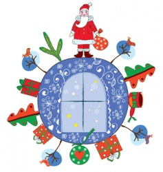 Christmas decoration with sent vector image