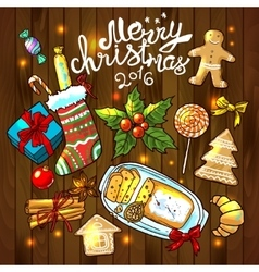 christmas sweets vector image
