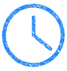 clock grunge icon vector image