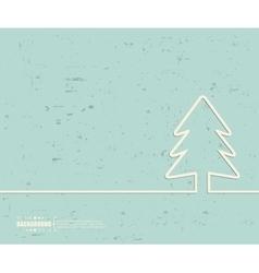 Creative Christmas tree Art vector image
