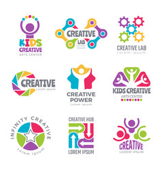 Creative logo templates colorful abstract vector