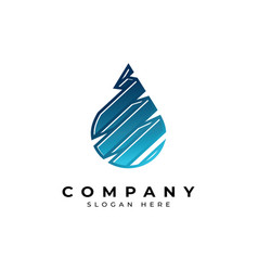 Creative water drop logoabstract water symbol vector
