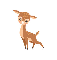cute badeer forest fawn animal vector image