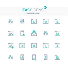 Easy icons 44e computer security vector