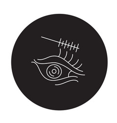 eye makeup black concept icon eye makeup vector image