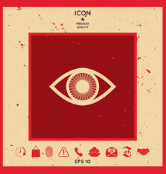 eye symbol icon with iris vector image