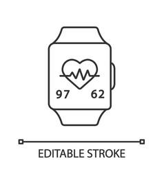 Fitness bracelet linear icon vector