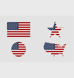 flag usa star flag usa usa map american flag in vector image