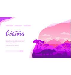 Goanna landing page template vector