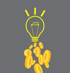 Good Idea Can Change Money vector image