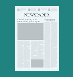 Graphical design newspaper template highlighting vector