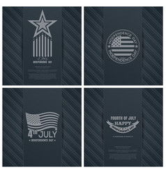 greeting cards set for us independence day vector image