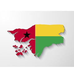 Guinea-Bissau country map with shadow effect vector image