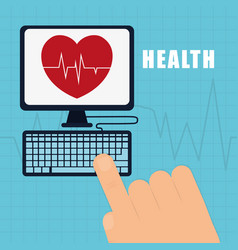 health service online heart care vector image