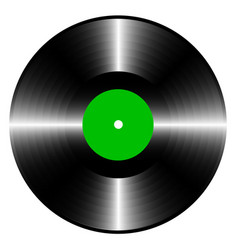 long-playing vinyl record with green label vector image
