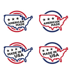 made in america label set 01 vector image