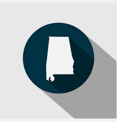 map us state alabama vector image