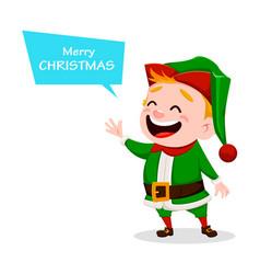 Merry christmas funny santa claus helper vector