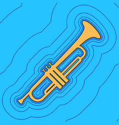 Musical instrument trumpet sign sand vector