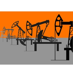 Oil factory vector