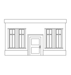 outline building house vector image