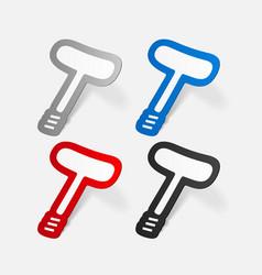 Paper sticker classic corkscrew vector