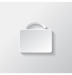Portfolio web icon Bag symbol vector