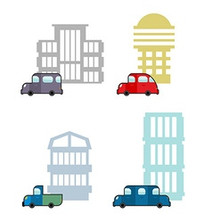 Set of car and House Transport and business vector image