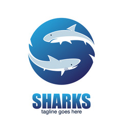 Sharks letter based s symbol vector