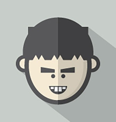 Single Boys Face Flat Design Icon vector image