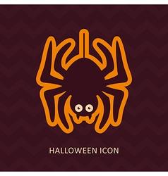 Spider halloween silhouette icon vector