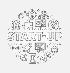 Start-up circular startup vector