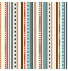 Stripes Seamless pattern Retro colors pattern vector image