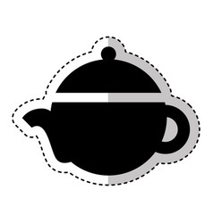 teapot silhouette isolated icon vector image